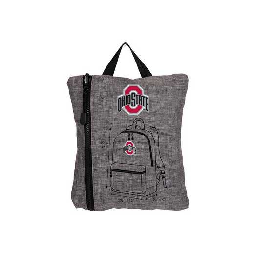 C11COLSC8020007RTL:  Ohio State Tandem Backpack Heathered Grey