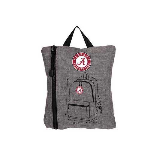 C11COLSC8020018RTL:  Alabama Tandem Backpack Heathered Grey