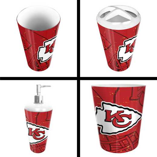 1NFL951000007RET: NFL 951 Chiefs 4pc Bath Set