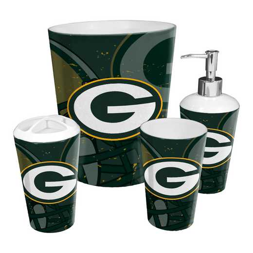 1NFL951000017RET: NFL 951 Packers 4pc Bath Set