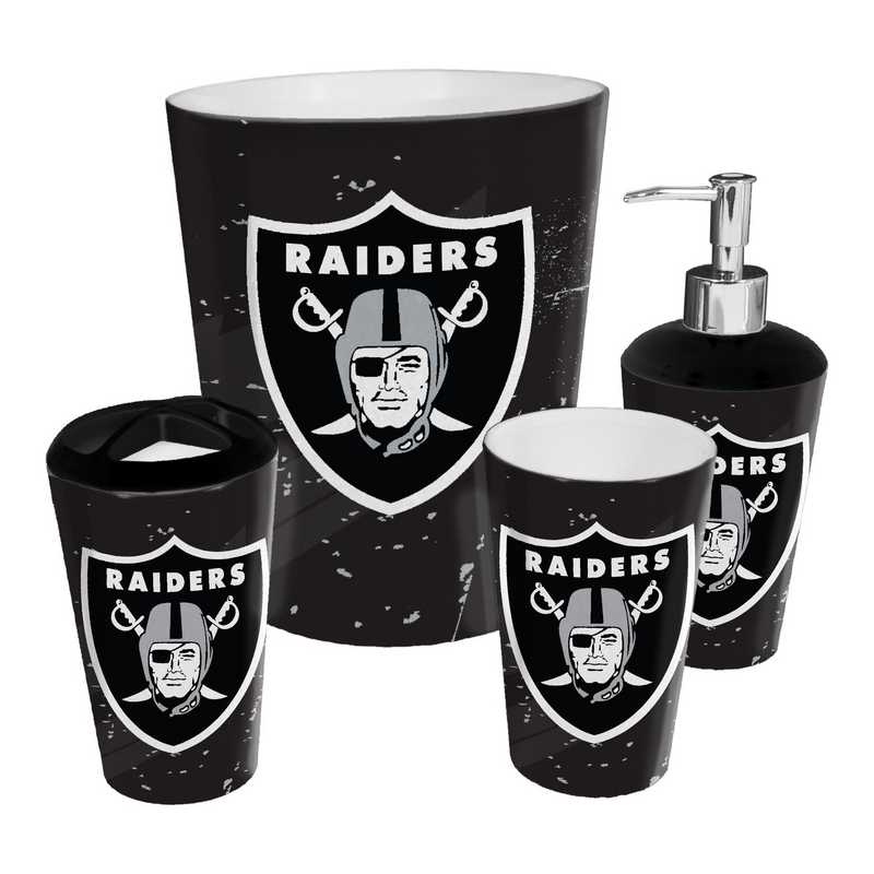 1NFL951000019RET: NFL 951 Raiders 4pc Bath Set