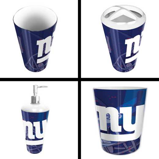 1NFL951000081RET: NFL 951 NY Giants 4pc Bath Set