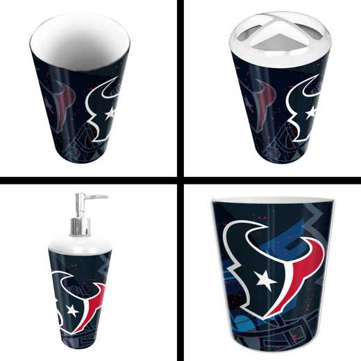 1NFL951000119RET: NFL 951 Texans 4pc Bath Set
