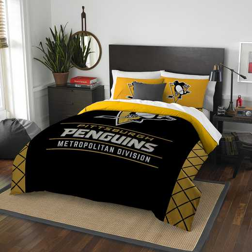1NHL849000018RET: NW NHL F/Q COMFORTER SET, PENGUINS