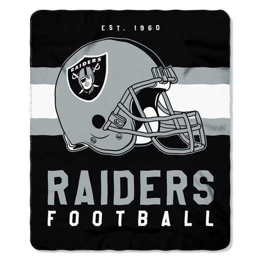 1NFL031030019RET: NW SINGULAR FLLECE THROW, RAIDERS