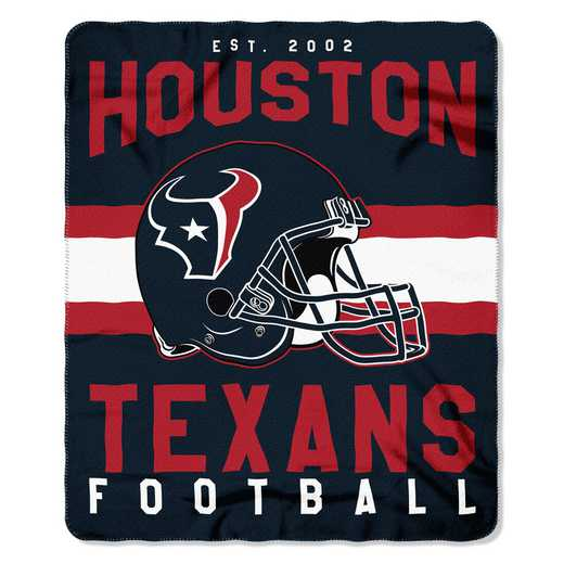 1NFL031030119RET: NW SINGULAR FLLECE THROW, TEXANS