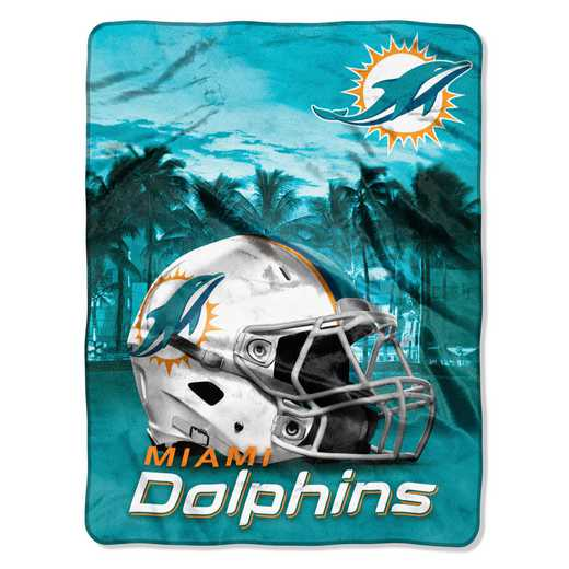 1NFL071030010RET: NW NFL HERITAGE SILK THROW, DOLPHINS