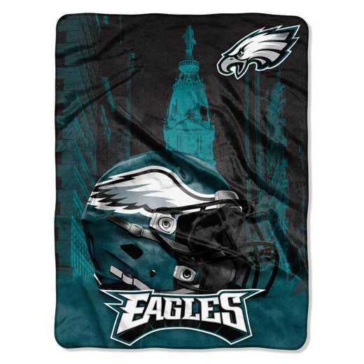 1NFL071030011RET: NW NFL HERITAGE SILK THROW, EAGLES