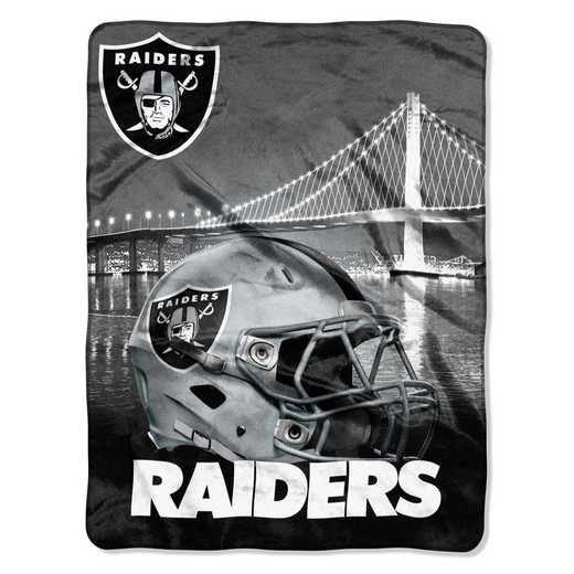 1NFL071030019RET: NW NFL HERITAGE SILK THROW, RAIDERS