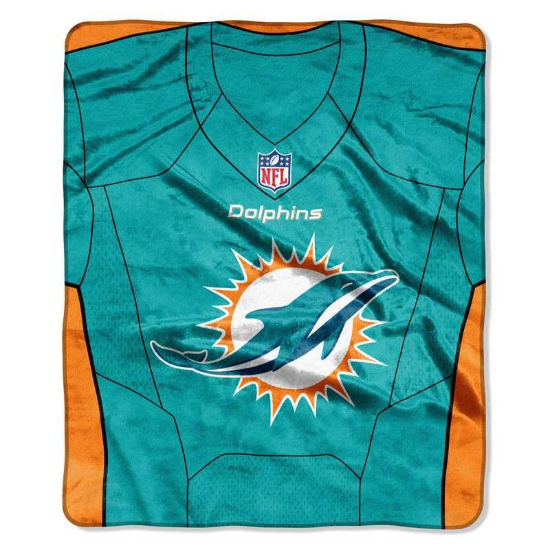low priced b11cf 83c5a Miami Dolphins Jersey Raschel Throw