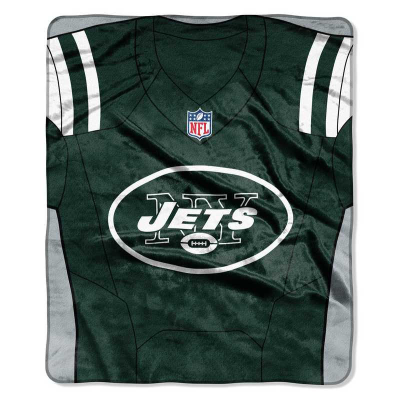 sports shoes b3d6d 5c63f New York Jets Jersey Raschel Throw