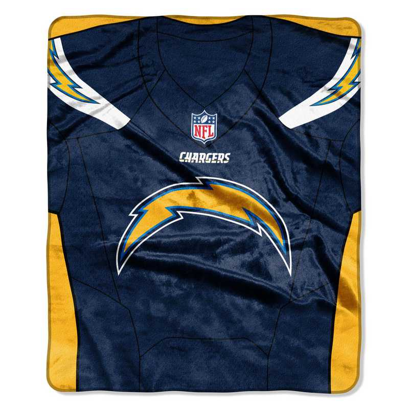 competitive price 1066a 46863 Los Angeles Chargers Jersey Raschel Throw
