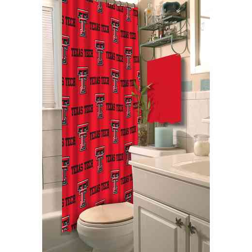 1COL903000035RET: COL 903 Texas Tech Shower Curtain