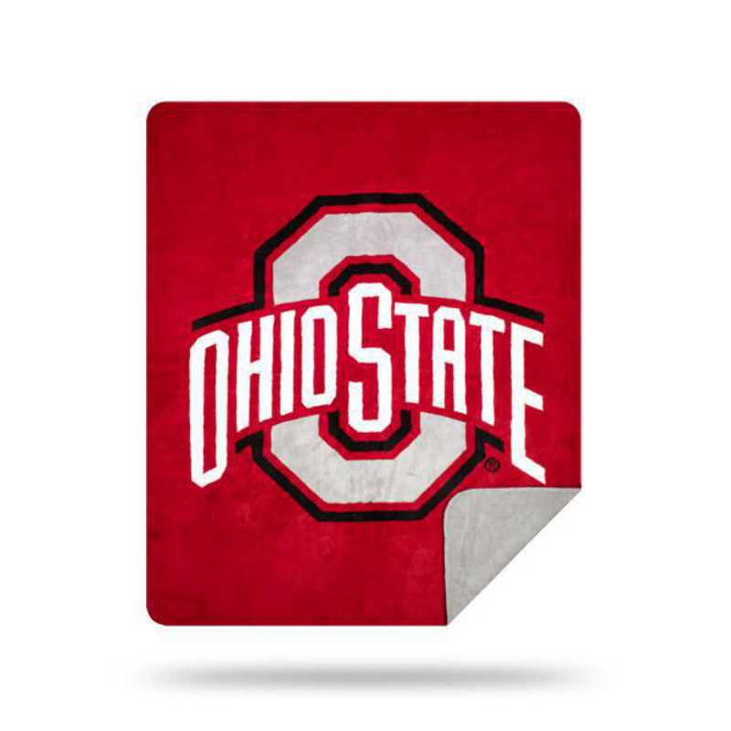 1COL361000007RET: NW SLIVER KNIT THROW, Ohio State