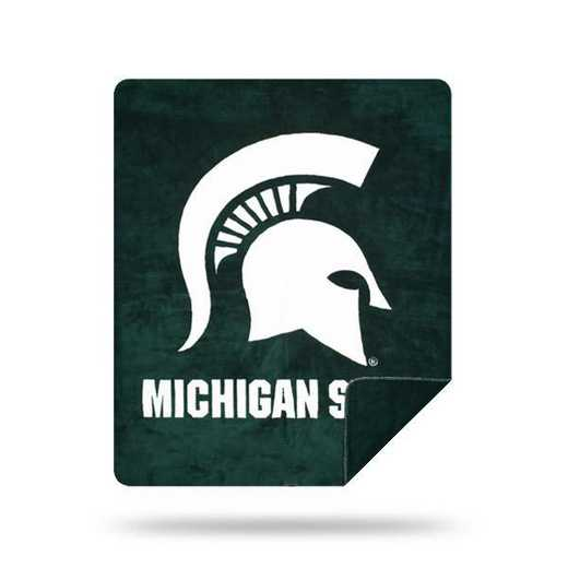 1COL361000031RET: NW SLIVER KNIT THROW, Michigan State