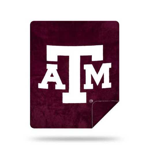 1COL361000034RET: NW SLIVER KNIT THROW, Texas A&M