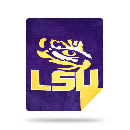 1COL361000046RET: NW SLIVER KNIT THROW, LSU