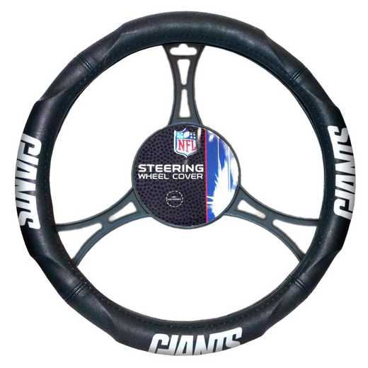 1NFL605000081WMT: NW CAR STEERING WHEEL COVER, NY GIANTS