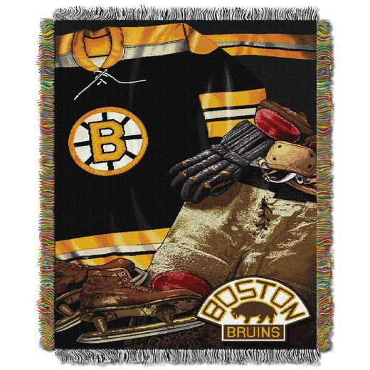 1NHL051020001RET: NW VINTAGE TAPESTRY THROW, BRUINS
