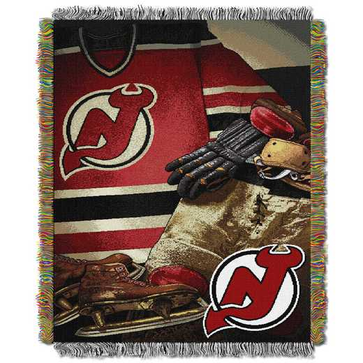 1NHL051020013RET: NW VINTAGE TAPESTRY THROW, DEVILS