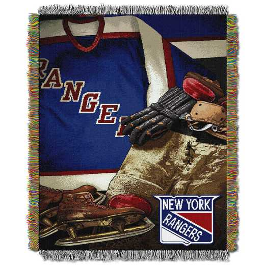 1NHL051020015RET: NW VINTAGE TAPESTRY THROW, RANGERS