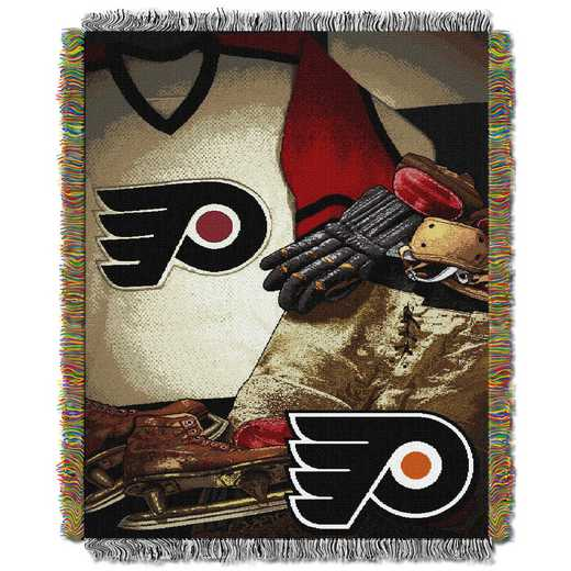 1NHL051020017RET: NW VINTAGE TAPESTRY THROW, FLYERS