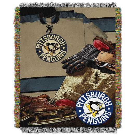 1NHL051020018RET: NW VINTAGE TAPESTRY THROW, PENGUINS