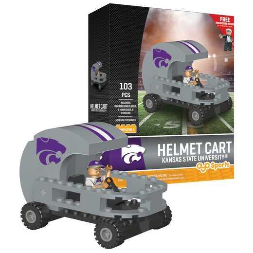 P-CFBKSUHC-G2PS: Helmet Cart Kansas State Wildcats103pc Building Block Set