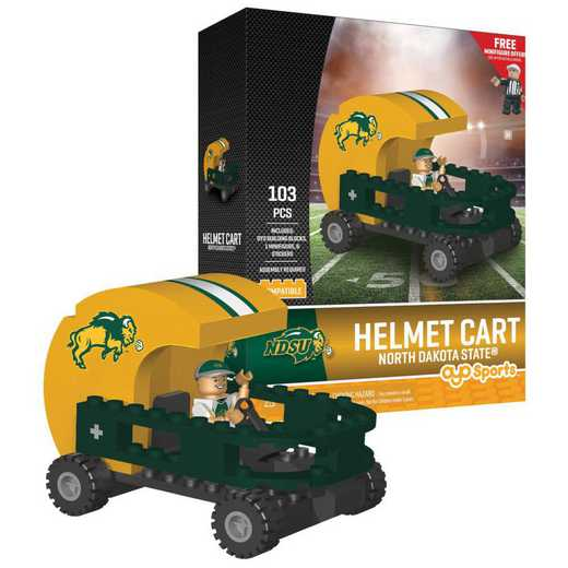 P-CFBNDSHC-G2PS: Helmet Cart North Dakota State Bison103pc Building Block Set