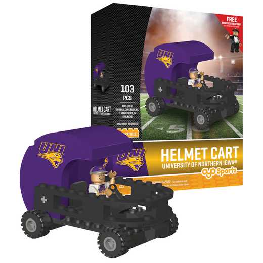 P-CFBNIPHC-G2PS: Helmet Cart Univ of Northern Iowa 103pc Building Block Set