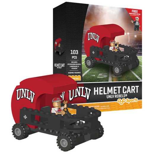 P-CFBNLVHC-G2PS: Helmet Cart University of Nevada Las Vegas Rebels103pc Building Block Set
