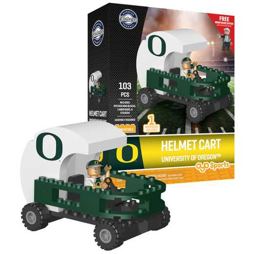 P-CFBOREHC-G2PS: Helmet Cart Oregon Ducks103pc Building Block Set