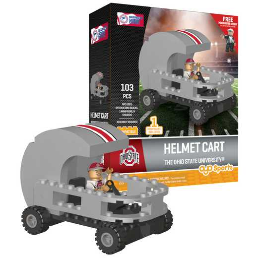 P-CFBOSUHC-G2PS: Helmet Cart Ohio State Buckeyes103pc Building Block Set