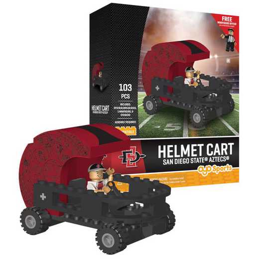 P-CFBSDSHC-G2PS: Helmet Cart SetSan Diego State Aztecs103pc Building Block Set