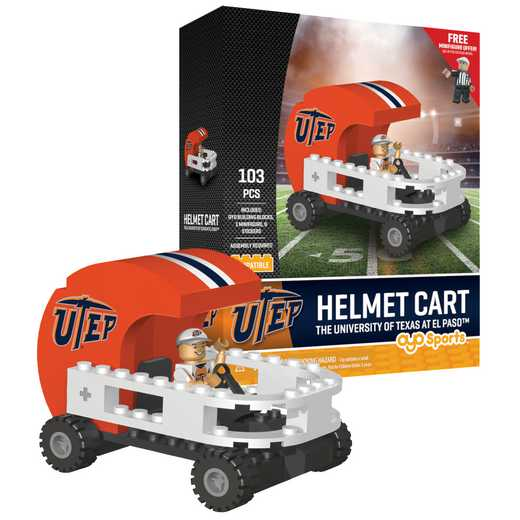 P-CFBTEPHC-G2PS: Helmet Cart UTEP Miners103pc Building Block Set