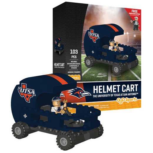 P-CFBTESHC-G2PS: Helmet Cart UTSA Roadrunners103pc Building Block Set