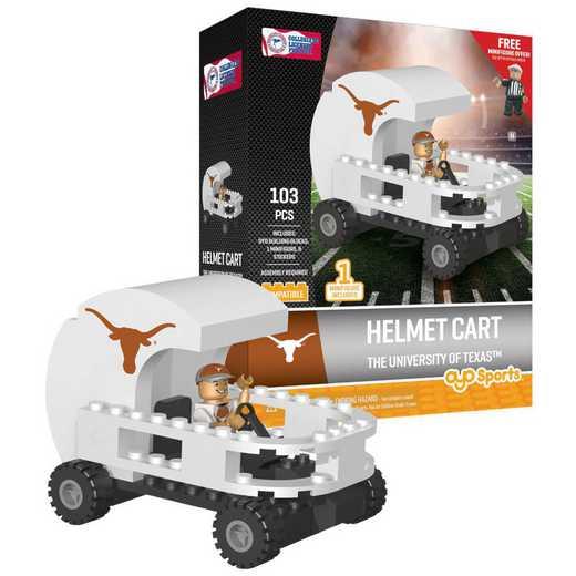 P-CFBTEXHC-G2PS: Helmet Cart Texas Longhorns103pc Building Block Set