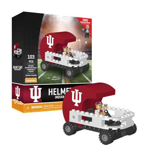 P-CFBUINHC-G2PS: Helmet Cart Indiana Univ Hoosiers103pc Building Block Set