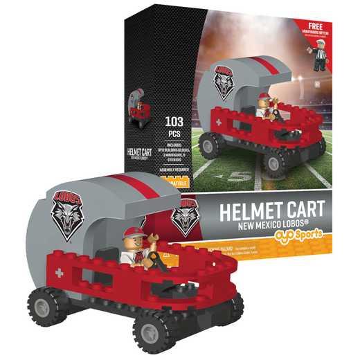 P-CFBUNMHC-G2PS: Helmet Cart Univ of New Mexico Lobos103pc Building Block Set