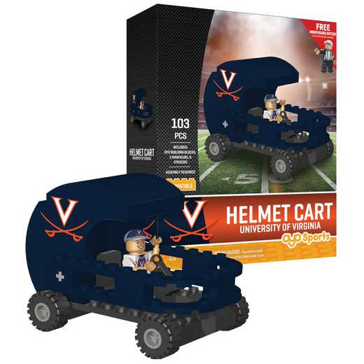 P-CFBUVAHC-G2PS: Helmet Cart Virginia Cavaliers103pc Building Block Set