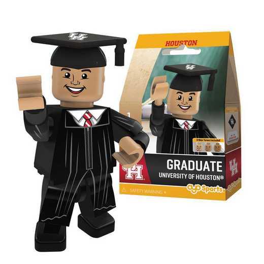 P-CFBHOUGM-G1GT: OYO GraduateMale Graduate OYO minifigureHouston Cougars
