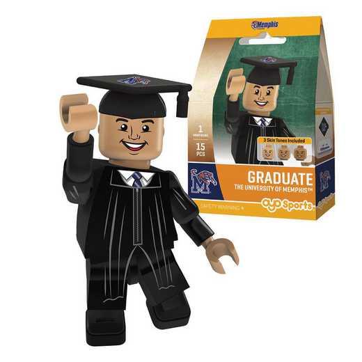 P-CFBMEMGM-G1GT: OYO GraduateMale Graduate OYO minifigureMemphis Tigers