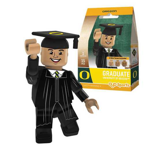 P-CFBOREGM-G1GT: OYO GraduateMale Graduate OYO minifigureOregon Ducks