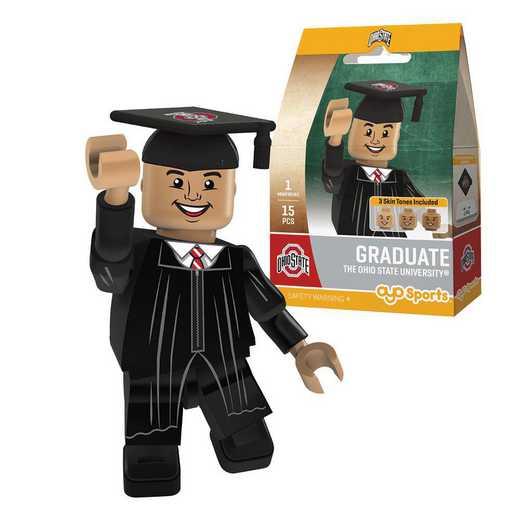 P-CFBOSUGM-G1GT: OYO GraduateMale Graduate OYO minifigureOhio State Buckeyes
