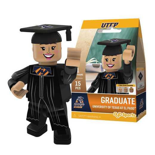 P-CFBTEPGF-G1GT: OYO Graduate Female Graduate OYO minifigureUTEP Miners