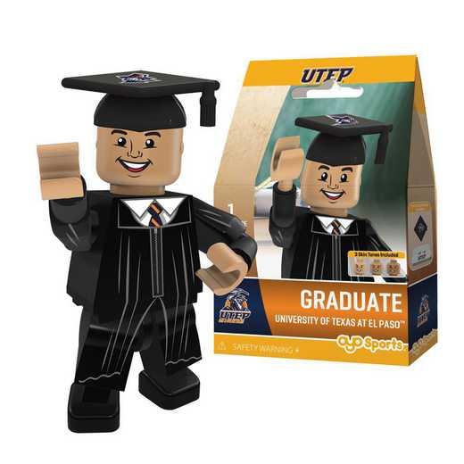 P-CFBTEPGM-G1GT: OYO GraduateMale Graduate OYO minifigureUTEP Miners
