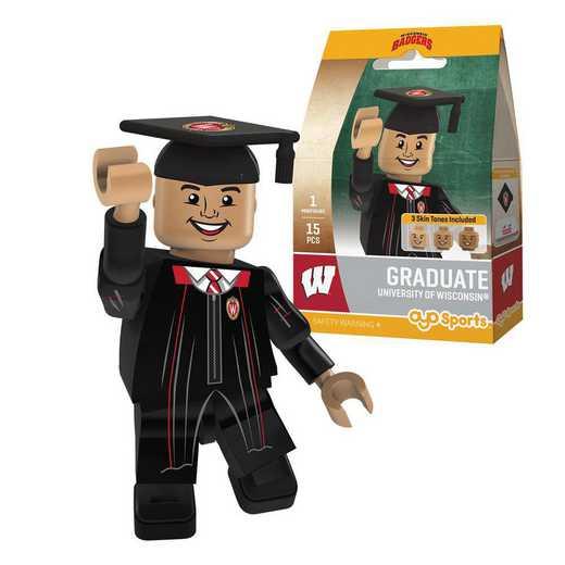 P-CFBWISGM-G1GT: OYO GraduateMale Graduate OYO minifigureWisconsin Badgers