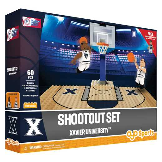 P-NCAAXAVFS1-G1FB: Official TeamShootout SetXavier Musketeer