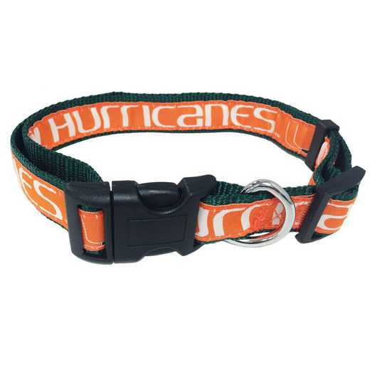 U OF MIAMI Dog Collar