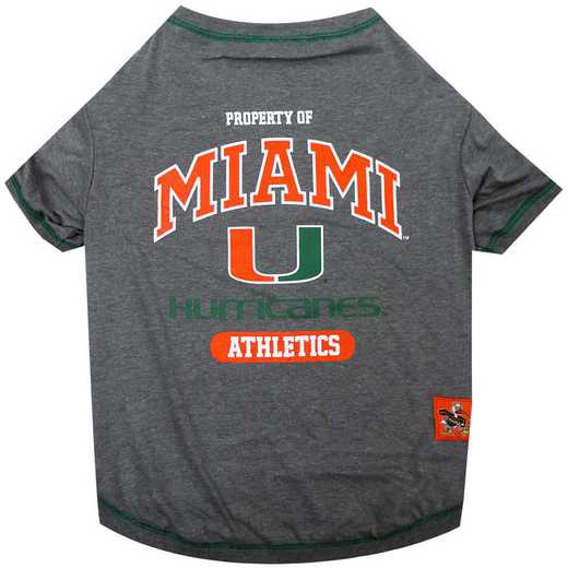 U OF MIAMI Pet T-Shirt